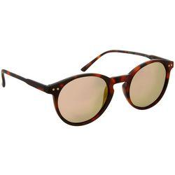 Reel Legends Womens Tortoise Brown Round Sunglasses