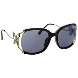Betsey Johnson Womens Butterfly Accent Sunglasses