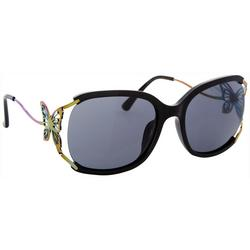 Womens Butterfly Accent Sunglasses
