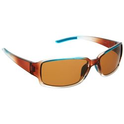Reel Legends Womens Peacock Rectangle Sunglasses