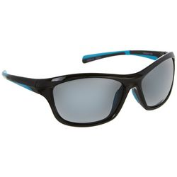 Reel Legends Womens Black & Blue Wrap Sunglasses