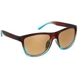 Reel Legends Womens Brown & Blue Square Sunglasses