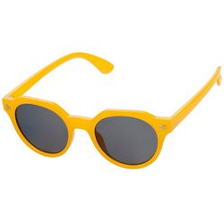 Steve Madden Womens Rounded Solid Sunglasses