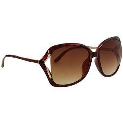 Steve Madden Womens Vented Oversized Tortoise Sunglasses