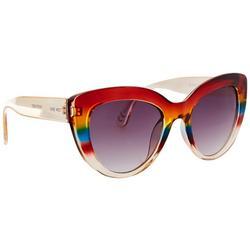 Womens Rainbow Plastic Cateye Sunglasses