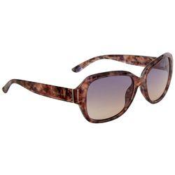 Nine West Womens Oversized Tinted Sunglasses