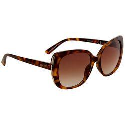 Nine West Womens Oversized Square Tortoise Sunglasses
