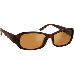 Reel Legends Womens Tortoise Print Rectangle Sunglasses