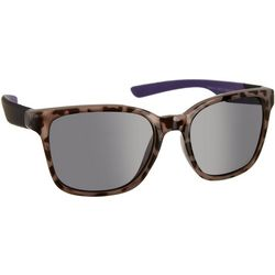 Reel Legends Womens Tortoise Print Purple Sunglasses