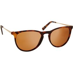 Reel Legends Womens Tortoise Print Metal Sunglasses