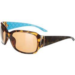 Womens Print Blue Sunglasses