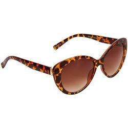 Betsey Johnson Womens Tortoise Chic Cat Eye Sunglasses