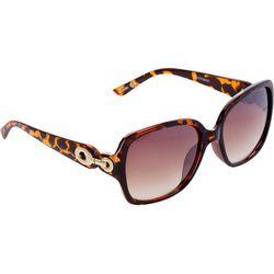Steve Madden Womens Square Tortoise Sunglasses