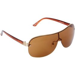 Steve Madden Womens Amber Rimless Shield Sunglasses