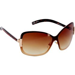 Steve Madden Womens Large Square Rimless Sunglasses