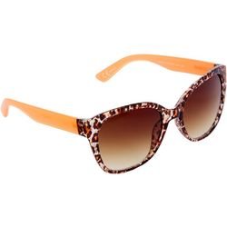 Steve Madden Womens Leopard Wayfayer Sunglasses