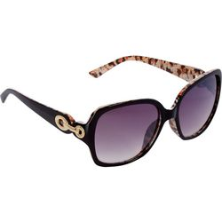 Steve Madden Womens Large Square Leopard Sunglasses