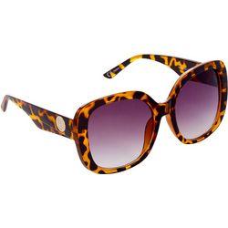 Steve Madden Womens Thick Square Tortoiseshell Sunglasses