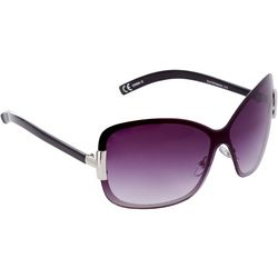 Steve Madden Womens Large Square Black Rimless Sunglasses