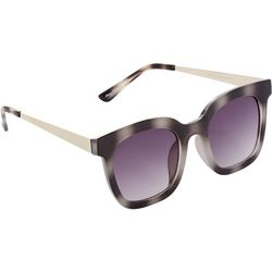 FRYE & CO Womens Two Tone Large Square Plastic Sunglasses