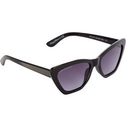 French Connection Womens Black Plastic Cateye Sunglasses