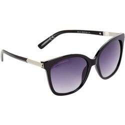 French Connection Womens Black Plastic Mod Sunglasses