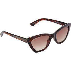 Womens Tortoiseshell Cateye Sunglasses