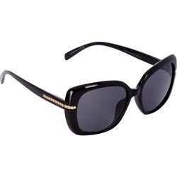 Nine West Womens Large Square Plastic Sunglasses