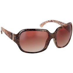 Nine West Womens Square Snake Plastic Sunglasses