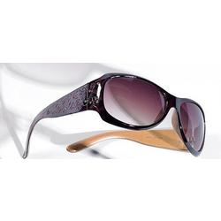 Womens Large Square Leopard Accent Sunglasses