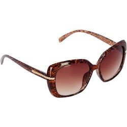 Nine West Womens Large Square Snake Sunglasses