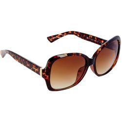 Nine West Womens Large Square Tortoiseshell Sunglasses