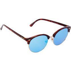 Nine West Womens Tortoiseshell Clubmaster Sunglasses