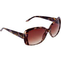 Nine West Womens Large Purple Fleck Tortoiseshell Sunglasses