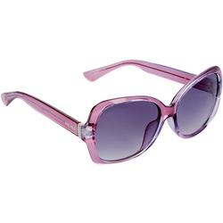 Nine West Womens Square Crystal Purple Plastic Sunglasses