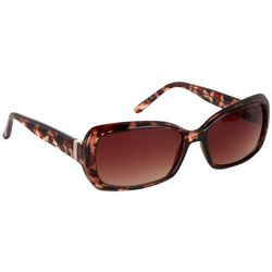 Nine West Womens Oversized Oval Tortoise Sunglasses