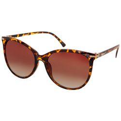Steve Madden Womens Tortoise Crystal Accent Sunglasses