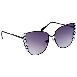 Steve Madden Womens Jeweled Cateye Sunglasses