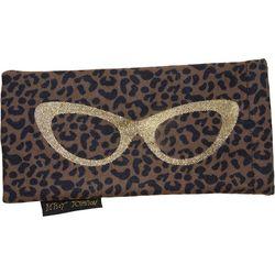Womens Leopard Print Eyewear Case