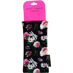 Betsey Johnson Womens Floral Print Eyewear Case