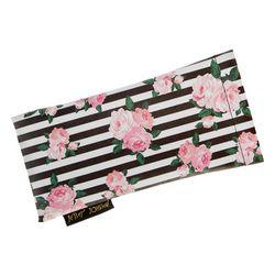 Womens Floral & Stripes Print Eyewear Case