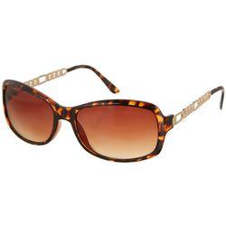 Steve Madden Womens Large Square Tortoise Sunglasses