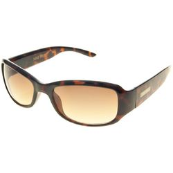 Nine West Womens Tortoise Brown Wrap Sunglasses