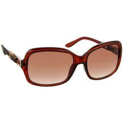Nine West Womens Gold Tone & Brown Sunglasses