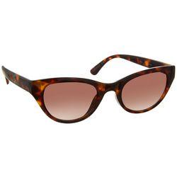 Nine West Womens Cat Eye Tortoise Brown Sunglasses