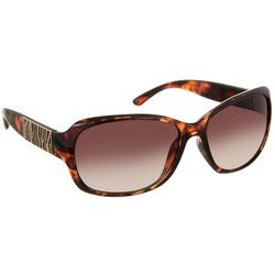 Bay Studio Womens Rectangular Zebra Pattern Sunglasses