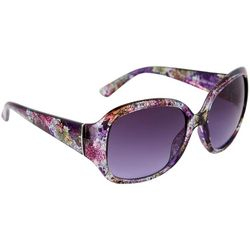 Bay Studio Womens Purple Floral Square Sunglasses