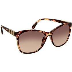 Womens Floral Print Cat Eye Sunglasses