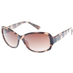 Dockers Womens Tortoise Brown Rectangle Sunglasses
