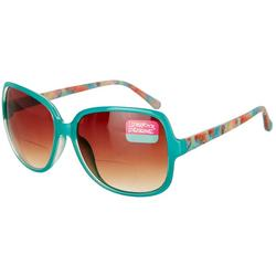 Womens Large Printed Reading Sun Glasses